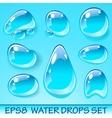 Water Drops Icon Set vector image