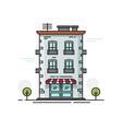 city building flat cartoon vector image