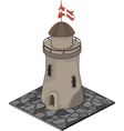 A video game object Watchtower vector image vector image