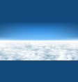 above clouds background vector image