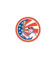 American Baseball Player Batting Circle Cartoon vector image vector image
