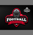 american football tournament emblem logo on a vector image vector image