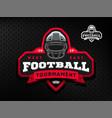 american football tournament emblem logo vector image vector image