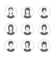 app or profile user icon set set women avatar vector image