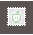 Apple stamp Outline vector image vector image