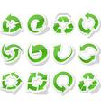 Arrow green stickers vector image vector image