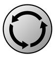 Arrows circle button vector image