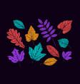 autumn decorative leaves set nature concept vector image vector image