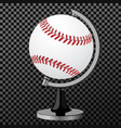 baseball baseball globe isolated over vector image vector image