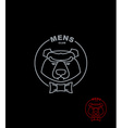 Bear mens Club Wild Animal logo on a black vector image vector image
