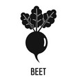 beet icon simple style vector image