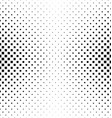 Black and white square pattern design vector image vector image
