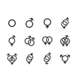 black Sexual orientation icons se vector image vector image