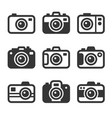 camera icons set on white background vector image