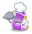 chef with food cartoon fairytale story and magic vector image