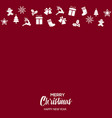 christmas greeting card with ornaments vector image