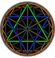 color magic hexagram vector image