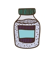 colorful bottle with salt and pepper vector image vector image