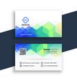 creative hexagonal business card design template vector image vector image