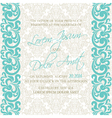 damask wedding invitation blue vector image vector image