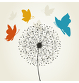 Dandelion and the butterfly vector image vector image