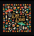 day dead mexican celebration greeting card vector image vector image