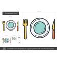dinnerware line icon vector image vector image