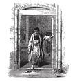 doorway in the middle east vintage engraving vector image vector image