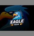 eagle mascot character logo design vector image