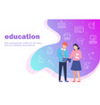 education concept two of vector image vector image