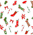 endless texture with traditional christmas vector image