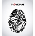 finger print design vector image