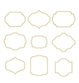 Gold border white empty frame set for cards vector image vector image