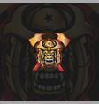 gorilla samurai mascot logo vector image vector image