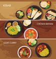 halal food web banner flat design vector image