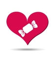 heart red cartoon candy icon design vector image vector image