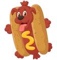 Hot Dog Cartoon Character vector image vector image
