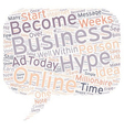 Hype In Online Business text background wordcloud vector image vector image