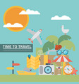 icons and concepts in flat style - travel and vector image vector image
