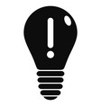 innovation idea bulb icon simple style vector image vector image