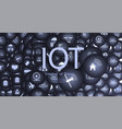 internet things iot and networking vector image