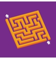 Isometric orange maze in pixel art style vector image