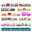 kids train cartoon baby railroad toy or vector image vector image