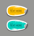 label paper brush stroke collections vector image vector image