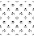 man hat pattern seamless vector image vector image