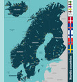 map of nordic countries vector image vector image
