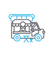 mobile fast food linear icon concept mobile fast vector image