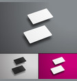 mockup gift or bank cards in perspective hovering vector image vector image