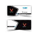modern geometric black and white name card vector image vector image