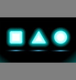 neon lamp square triangle and circle for vector image vector image